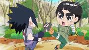 Sasuke clash with Lee