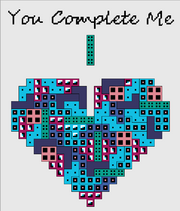 You Complete Me Tetris Heart Two