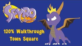 Spyro the Dragon 120% Walkthrough - 4 - Town Square