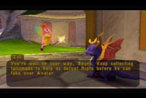File:Spyro & Zoe in the Castle's Garden.png