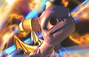 Spyro being transported to Earth