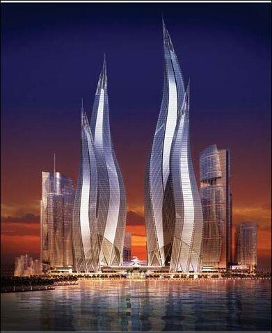 File:RealWorld Dubai Towers (Night).jpg
