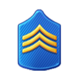 Badge Military Level 7
