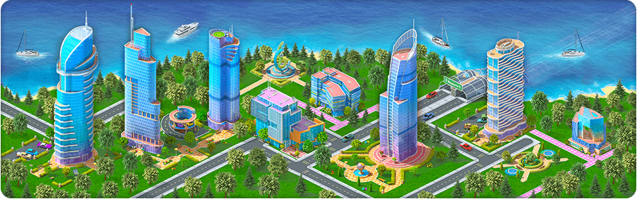 Business Island Background