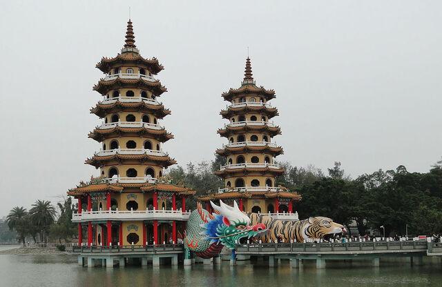 File:RealWorld Dragon and Tiger Pagodas.jpg