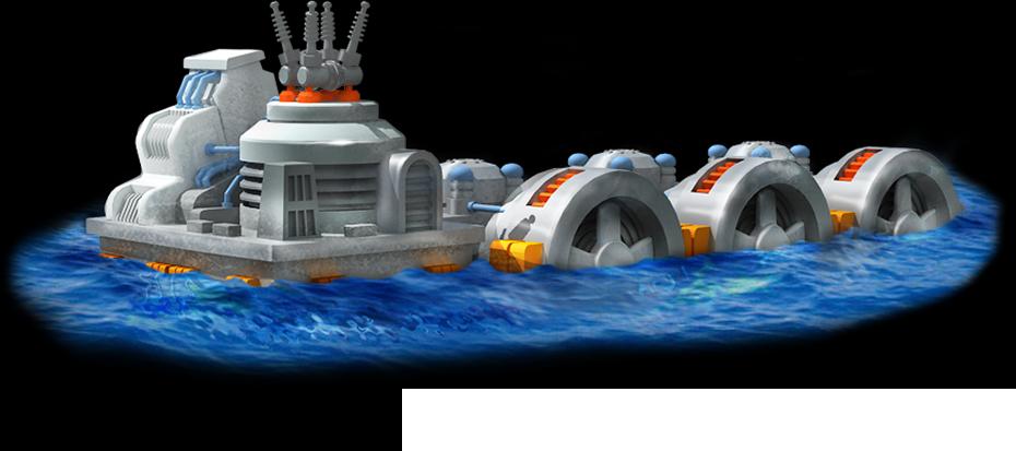 Tidal Power Plant Artwork