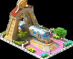 Gold Zephyr Locomotive Arch