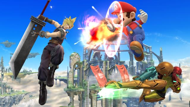 File:Cloud, Samus and Mario.png