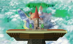 SSB3DS Peach's Castle (64) Omega