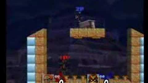 Ganondorf Captain F vB on Spring Super Jump (Strange Outcome, glitch?)