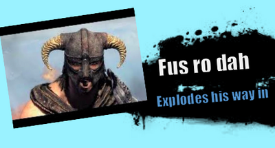 Splash art fus ro dah