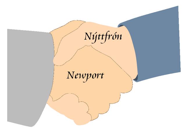 Bestand:Logo Stedenband Nýttfrón-Newport.png