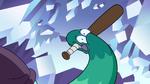 S2E34 Left snake hand holds baseball bat in his mouth
