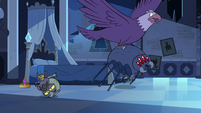 S3E6 Eagle and spider chase Marco and performers
