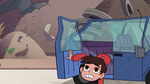 S2E24 Marco Diaz climbs out of the crashed car