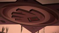 S1E15 Blood Moon Ball hand-shaped skylight