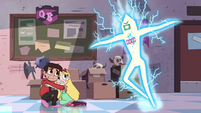S2E18 Star and Marco cower in fear of the gift card