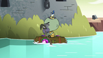 S2E35 Ludo floats across a moat on the book of spells