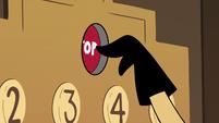 S2E25 Sean presses the elevator button for the top floor