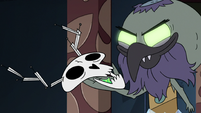 S2E41 Ludo-Toffee holding Omnitraxus' skull mask