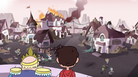 S3E4 River and Marco see the villagers in the panic