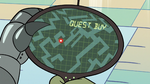S2E18 Rasticore's tracker pointing to Quest Buy