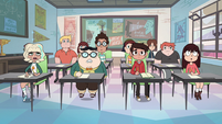 S2E32 Classroom students look confused at Star