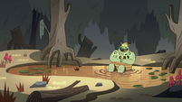 S2E12 Buff Frog and his tadpoles in a pond