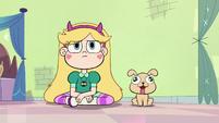 S2E1 Star and laser puppy stare at closet