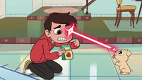 S2E6 Laser puppy shoots laser at Marco's eye