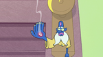 S2E1 Glossaryck stares at hole in his hand
