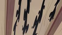 S2E21 Black saliva staining the living room ceiling