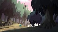 S2E12 Buff Frog running through the woods