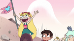 S2E15 Star Butterfly excitedly raises her flag