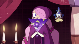 S2E23 Celena the Shy and Glossaryck in tapestry.png