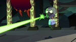 S2E41 Hekapoo dodging Ludo-Toffee's magic blasts