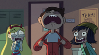 S2E26 Marco Diaz pulling on his hoodie collar