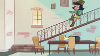 S2E27 Janna leaps over the stair bannister