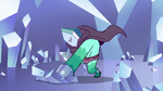 S2E34 Rhombulus angrily punches a crystal spire