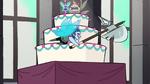 S1E12 Guard flies past wedding cake