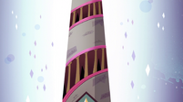 S2E25 Exterior shot of Bureaucracy of Magic tower
