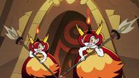 S2E31 Hekapoo clones wielding spears