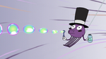 S2E22 Spider With a Top Hat blowing bubbles