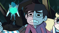 S1E12 Marco looking at mine guardian