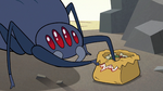 S3E3 Spider taking a taco out of the bag