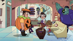 S2E21 Trick-or-treaters leaving the Diaz Household