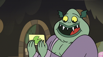 S3E5 Buff Frog reading a drawn card
