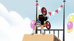 S2E29 Sensei doing handstand on halfpipe