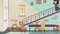 S2E27 Star Butterfly stumbles to bottom of stairs