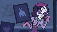 S3E6 Mime Girl looking flattered